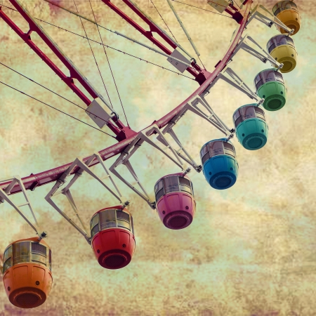 Vintage Retro Ferris Wheel photo