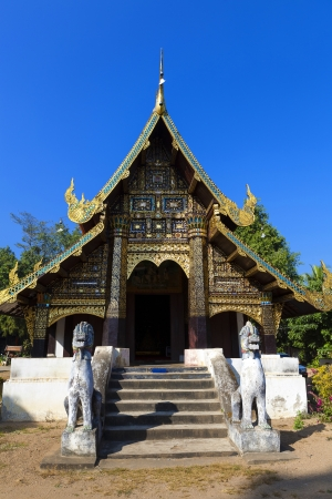Beautiful old temple in Mae Chaem northern thailand, Chiang Mai, Thailand
