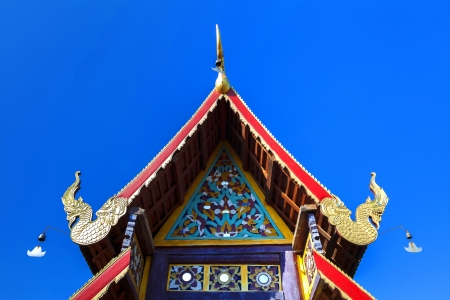 Detail of Beautiful old temple in Mae Chaem northern thailand, Chiang Mai, Thailand