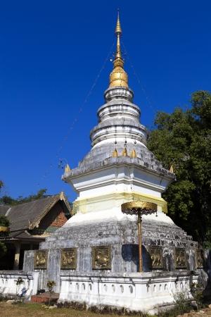 Pagoda in Mae Chaen northern thailand, Chiang Mai, Thailand