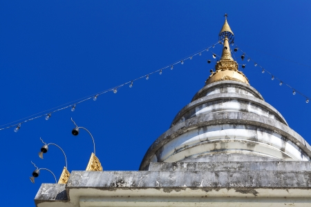 Detail of pagoda in Mae Chaem northern thailand, Chiang Mai, Thailand