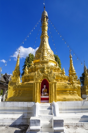Burmese Architectural Style temple in Mae Hong Son northern thailand