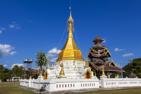 Burmese Architectural Style temple in Khun Yuam  northern thailand, Mae Hong Son, Thailand