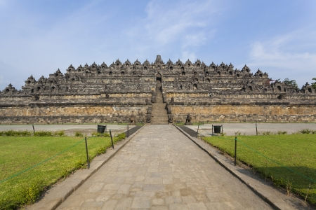 jogjakarta: Borobudur temple Yogyakarta  Java, Indonesia Stock Photo