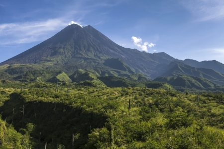 Mount Merapi volcano, Java, Indonesia