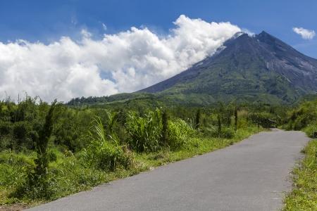 mountain ash: Mount Merapi volcano, Java, Indonesia