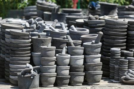 Mortars and pestle in Bali, Indonesia