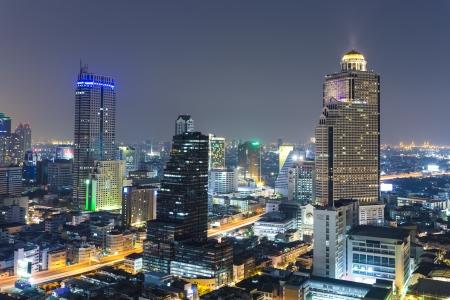 bangkok night: Bangkok city scape in twilight