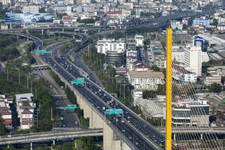 Bangkok Expressway and Highway top view, Thailand photo