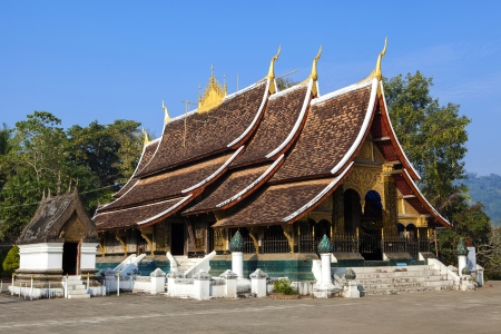 Wat Xieng thong temple in Luang Pra bang, Laos photo