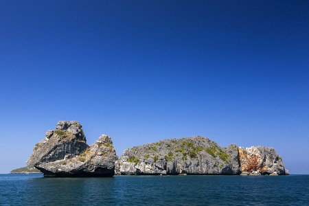 Beautiful rocks Island in the sea at Ang Thong National Park, Thailand photo