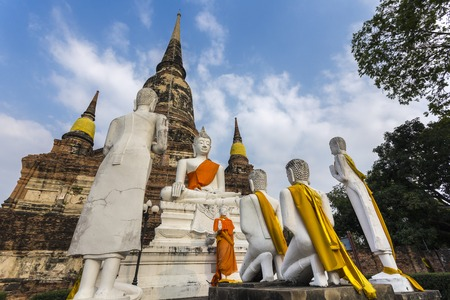 Wat Yai Chai Mongkhon old temple in Ayuthaya Province Thailand