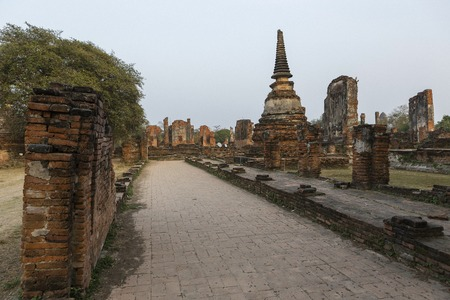 Historic site at  Wat Phra Si Sanphet A temple in the ancient palace Ayutthaya, Thailand