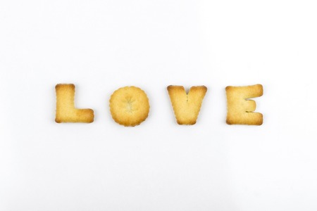 Love wording by a b c biscuit