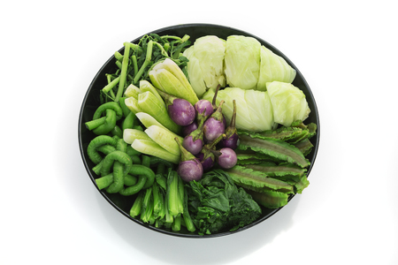 various thai blanched vegetables