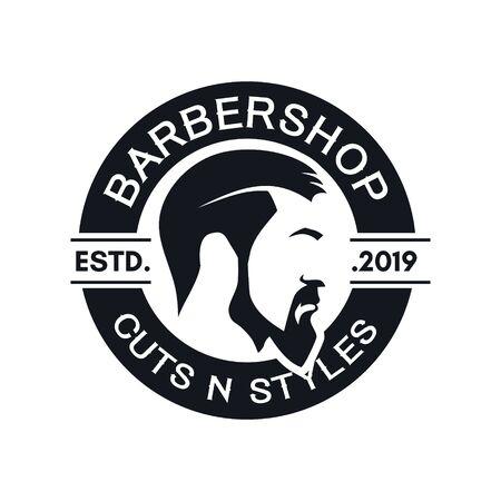 Barbershop Vintage Logo Design Vector Stock