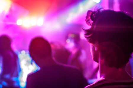 happieness: Young adults partying in a nightclub  Stock Photo