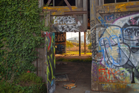 abandoned warehouse: Graffiti Entrance