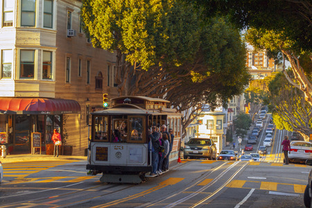 san francisco: Cable Trolley Car in San Francisco
