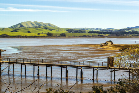 Old Fishing Boat in Northern California Stock Photo