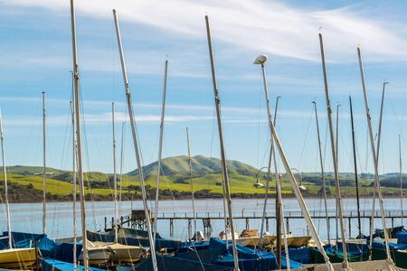 Small Harbor in Northern California Editorial