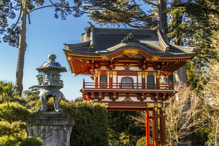 japanese tea garden: Pagoda in Japanese Tea Garden