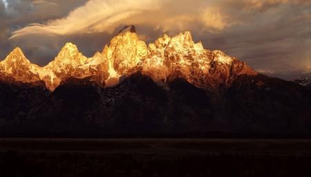 teton: Grand Teton, Wyoming  Archivio Fotografico