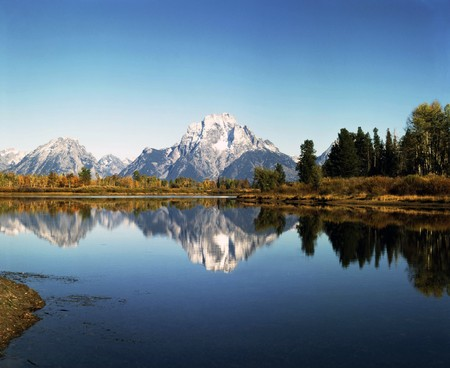 Mt.Moran and Oxbow Bend, Wyoming photo