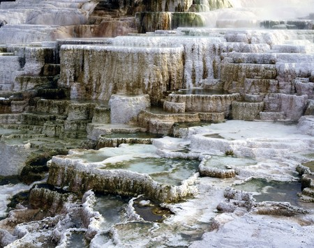 minerva: Minerva Terrace, Mammoth Hot Springs Stock Photo