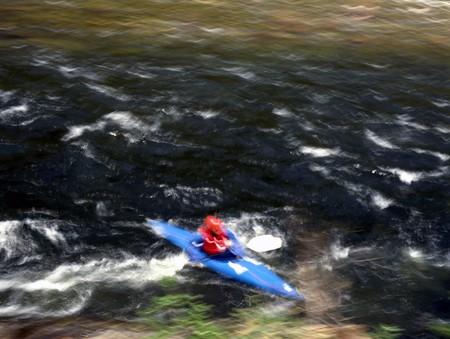 the rapids: Riding the Rapids Stock Photo