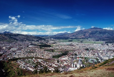panoramatic: Panoramatic view of Quito in Ecuador