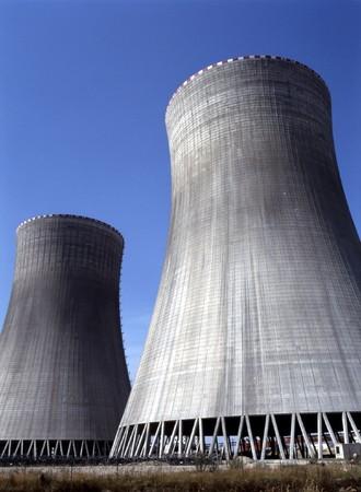temelin: Cooling Towers, Temelin, Czech Republic Stock Photo