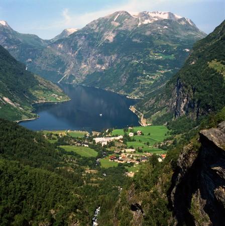 fjord: Geiranger Fjord, Norway Stock Photo