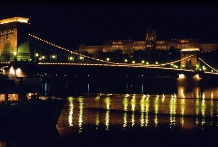Chain Bridge and Royal Palace, Budapest, Hungary photo
