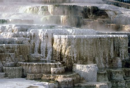 Minerva Terrace at Mammoth Hot Springs in Yellowstone National Park, Wyoming photo