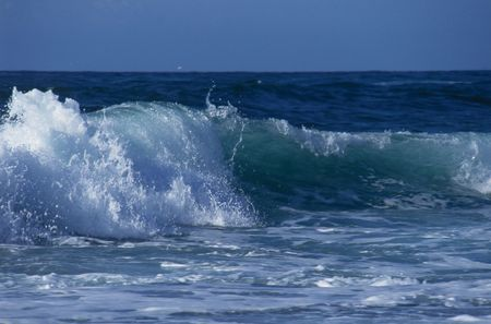 pacific ocean: Ocean waves, California Stock Photo