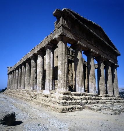 agrigento: Temple of Concordia (430 BC ), Agrigento, Sicily Stock Photo