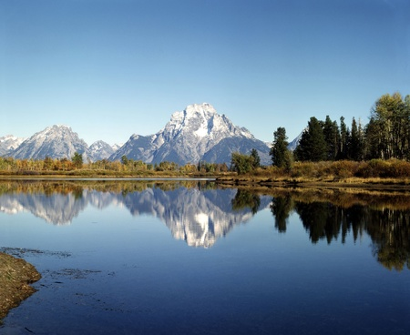 Mt.Moran and Oxbow Bend in Wyoming photo