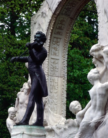 Statue of Johann Strauss, Vienna photo