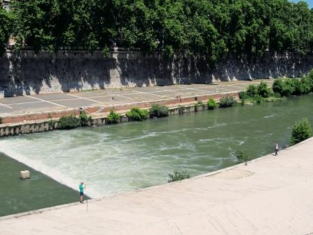 tiber: Rome, River Tiber                                Stock Photo