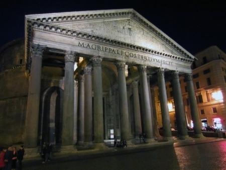pantheon: Pantheon in Rome at night                                Stock Photo