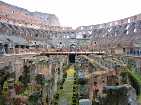 Colosseum and mosaics in Rome Stock Photo - 13851251