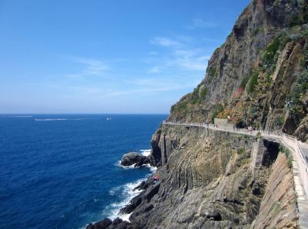 pedestrian walkway: Pedestrian walkway in Village on Italian Coast
