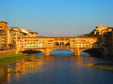 ponte vecchio: River Arno with Ponte Vecchio in Florence