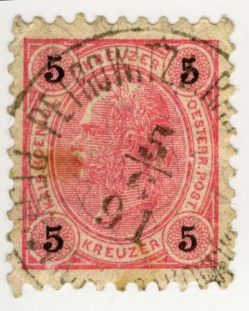 the monarchy: Vintage stamp from  Austrian-Hungarian Monarchy Editorial