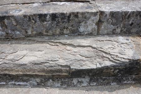 Obsolete stone steps