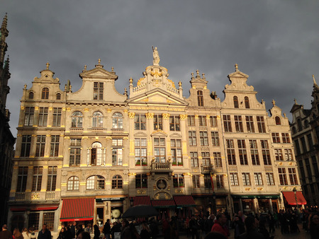 brussels: Grand Place in Brussels, Belgium Editorial