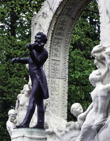 composer: Sculpture of composer J.Strauss Editorial