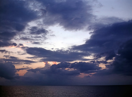 stormy clouds: Stormy clouds  over Meiterranean Sea
