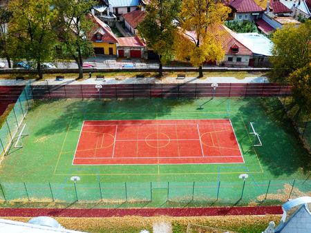 terrain de handball: Athl�tisme et la cour HANBALL